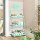 3 Tier Storage Rack Bookcase Display Plant Stand Shelf Metal Ladder Tray Shelves