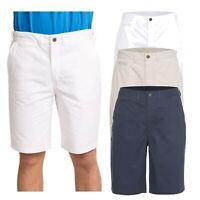 Trespass Firewall Mens Lightweight Cotton Shorts Longer Length in White & Blue