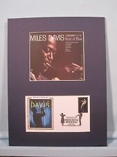 Saluting Blues Great - Miles Davis &  First day Cover of its own stamp