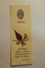 image pieuse reliquaire Holy Card relic Santini bois noisetier de l apparition