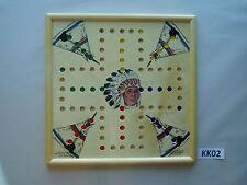 WAHOO WA HOO BOARD GAME 15 x 15 inch.  4 player with images.  KK02