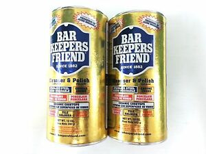 Bar Keepers Friend Twin Pack Cleanser Polish For Cookware Kitchen Bathroom 340G