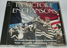 LA VICTOIRE EN CHANSONS  LES GRANDS STANDAR FRANCAIS & AMERICAINS  2 CD 57 TITRE