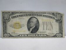 1928 US $10 GOLD CERTIFICATE NOTE
