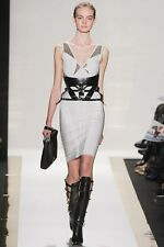 NWT HERVE LEGER HARNESS STYLE WAIST BELT BLACK CORSET LEATHER $1,350.00 XS