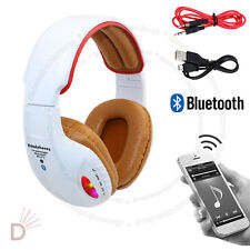 Wireless Bluetooth 4.2 Headset Stereo Orange Headphone With Built in MIC UKDC