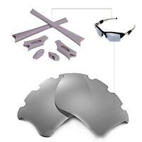 WL Polarized Titanium Vented Lenses And Rubber Kit For Oakley Flak Jacket XLJ