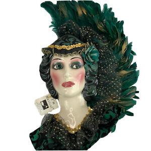 Clay Art San Fran Limited Edition Lady Face Mask Wall Art Green Musical 449/1500
