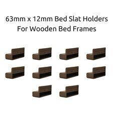 63mm x 12mm Depth Single Bed Slat Holders / Caps for Wooden Bed Frames- Brown