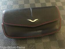 Genuine Vertu Ascent Ti Horizontal Black and Red leather Case Super RARE