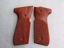 New checkered hardwood Grip For Beretta Model 92, 96, M9 Full Size Thai handmade