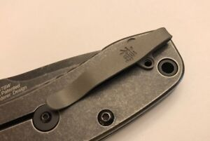 Gray Titanium Deep Carry Pocket Clip For Kershaw Cryo ll 1556 Knife Tip Up Only