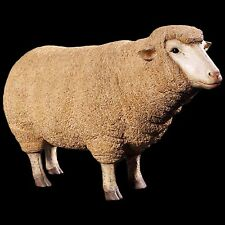 LIFE SIZE MERINO EWE SHEEP STATUE GARDEN/INDOOR PATIO LAWN ORNAMENT RESIN ANIMAL
