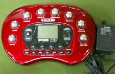 Line 6 PODX3 line6 amp modeler POD X3 multi-effects POD-X3 w/ AC Adapter +Manual