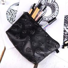 Waterproof Cosmetic Makeup Purse Skull Organizer Pouch Pencil Case Handbag