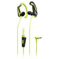 Pioneer SE-E5T Yellow Sports Earphones. Sweat and Rain Resistant with Ear Hook