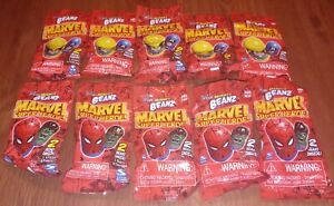 Mighty Beanz Marvel Super Heros lot of 10 packs 20 Mighty Beanz Total
