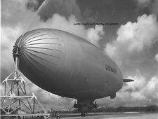 "1942 US Navy Blimp at mast 8""x 10"" World War II WW2 Photo Picture #4"