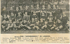 1906 The Springboks in London by Half Tone Ltd vintage rugby postcard