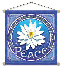 "Mandala Arts 30"" X 30"" Temple Banner ""Lotus of Peace"" (TB11)"