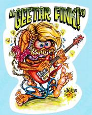 Johnny Ace Vinyle Sticker Autocollant Guitare Kustom Kulture Rat Fink Daddy Roth Monster