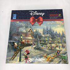 Disney Puzzle Thomas Kinkade Mickey's Victorian Christmas 1000 Piece New