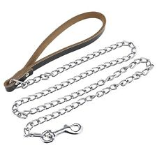 Dog Leash Chain for M-L Size Dog Pet Collar Training Metal 4 Foot Length