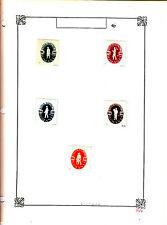 ROMANIA Old Stamps Roumanie vieux timbres sur feuiles d'albums lot 437