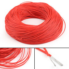 20M Flexible Stranded Silicone Rubber Wire Cable 24AWG Gauge OD 1.5mm Red