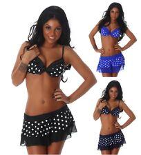 Push Up 3 Tl. Bikini Beachwear Badeanzug Bikini+Rock