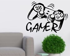Video Game Wall Vinyl Decals Playstation Controller Sticker Mural Boys Room Kids
