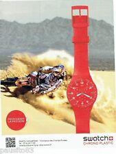 PUBLICITE ADVERTISING 106  2012  montre Swatch chrono plastic