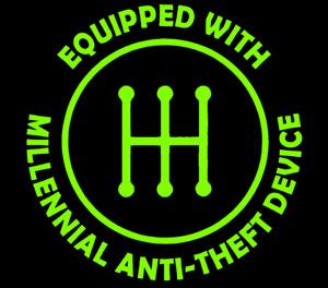 Stick Shift Manual Transmission Anti-Theft Millennial Vinyl Decal Sticker V2