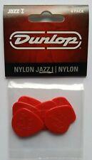 6 Dunlop Nylon Jazz I Picks 1,10 MM Red Guitar Pick Hang Bag
