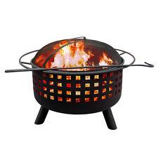 Landmann City Lights Memphis Pattern Outdoor Patio Fire Pit w/ Cooking Grate