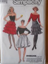 Simplicity Sewing Pattern 8246-Misses' SKIRTS-3 Styles-2 Lengths-Size: 10-UNCUT