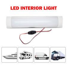 12V LED Car Interior Strip Lights Bar Lamp Truck Caravan Van ON OFF Switch VOLT