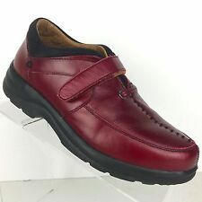 Dr Comfort Delight Loafer Orthopedic Diabetic Red Leather Shoe Womens Size 7.5 M