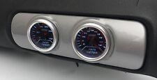Audi A3 8 L centre Air Vent Pod Gauge Support 2 Trous 52 mm-ABS Argent