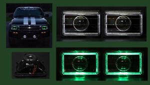 H4656 H4666 H4651 H4656 4x6 Green Halo Black Projector Headlights
