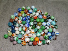 """GROUP OF 100 MIXED WEST VIRGINIA SWIRL MARBLES  19/32"""" TO 21/32""""  NM / M W111"""