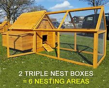 LARGE CHICKEN HEN HOUSE COOP POULTRY ARK RUN BRAND NEW RABBIT HUTCH1000 PLUS RUN