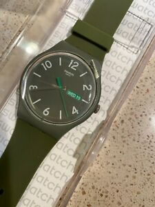 Swatch New Gent SUOG 706 Backup Green Swiss, New Old Stock