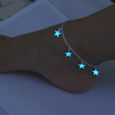 Vintage Luminous Foot Chain Beach Anklet Charming Glow In The Dark Star Design