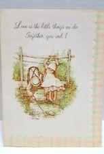 Vintage 1976 Holly Hobbie American Greetings Love is the Little Things we do