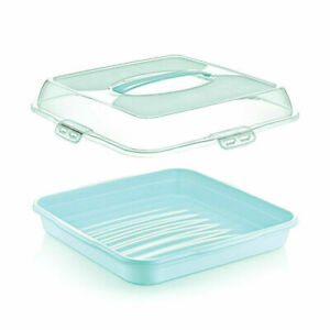 36CM LARGE SQUARE PARTY BUTLER BOX, CAKE COOKIES PASTRY FOOD ORAGIZER CONTAINER