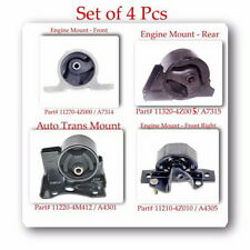 SET 4 PCS TRANS & ENGINE MOUNT KIT FITS: NISSAN SENTRA 2000-2006 L4 1.8L