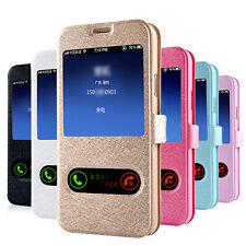 De Lujo Ventana Libro Cuero CARCASA FUNDA TPU para Samsung Galaxy S5 G900 i9600