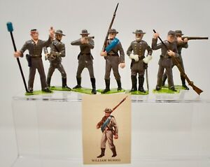MARX - 1960'S 60MM PLASTIC SOLDIERS OF THE WORLD - ACW-CONFEDERATE  -LOT C6