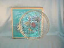 INDIANA GLASS DIAMOND POINT 3 PART, 12 INCH RELISH PLATE NEW IN BOX